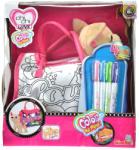 Simba Chi Chi Love Color Me Mine színezhető táska 20 cm-es kutyával
