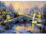 Schmidt Spiele Thomas Kinkade - Téli hangulat falun 1000 db-os