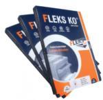 FLEKS-KO Etichete autocolante albe, colturi drepte, 100 coli/top, FLEKS-KO