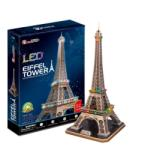 CubicFun Turnul Eiffel cu LED L091h Puzzle
