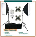 METTLE Daylight Kit 432 (1000w) + 2 Stands + Bag + 2 Ez Softbox