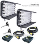 KINO FLO GAFFER SELECT 2 Light 4ft 4Bank Fixtures & Cables & Mounts & Case KIT
