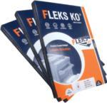FLEKS-KO Etichete autocolante albe, colturi rotunjite, 100 coli/top, FLEKS-KO