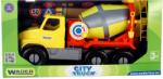 Wader Nagy sárga betonkeverő autó 47cm