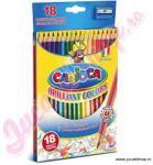 Carioca Set creioane colorate cu ascuţitor 18 buc. - Carioca