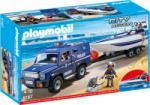Playmobil Rendőr terepjáró motorcsónakkal 5187