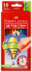 Faber-Castell Színes ceruza háromszög alakú 10db