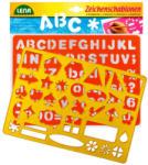 LENA 2db-os rajzolósablon - betűk, számok, formák (65774)