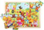 Bigjigs Toys macipiknik - puzzle tálca