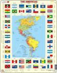 Larsen Amerika térkép+zászló 70 db-os KL4