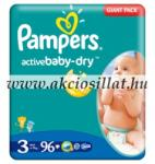 Pampers Active Baby 3 Midi (4-9kg) 96db