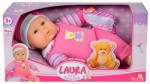 Simba Első Laura babám - rózsaszín ruhában - 28 cm