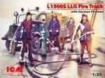 ICM L1500S LLG. Fire truck w/Germ. Firemen 1/35 35528