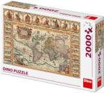 Dino Történelmi világtérkép 2000 db-os