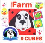 Dohány Háziállatok kocka puzzle 9 db-os