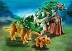 Playmobil Explorator si triceratops cu pui (PM5234)