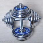 m-tech (G) X100421 Krómozott egykezes kézisúlyzó-készlet párban, összesen 20 kg
