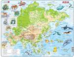 Larsen Ázsia térkép állatokkal 63 db-os A30