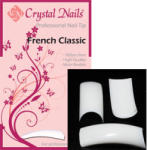 Crystal Nails - French Classic - Fehér Tip Box - 100db-os