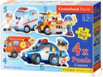 Castorland Mentő járművek 4, 5, 6 és 7 db-os sziluett puzzle (04393-2)