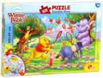 Lisciani Maxi Puzzle - Micimackó és barátai: Virágszedés 108 db-os kétoldalas színezhető puzzle (48007)