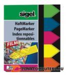 Sigel Nyilak műanyag jelölőcímke 5x40 lap 12x45 mm vegyes szín (SIHN613)