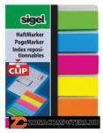 Sigel Clip műanyag jelölőcímke 5x25 lap 12x50 mm vegyes szín (SIHN610)