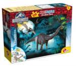 Lisciani Maxi Puzzle - Jurassic World: Brontosaurus 108 db-os kétoldalas színezhető puzzle (48670)