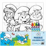 Jiri Models Hupikék Törpikék Színezhető puzzle 20 db-os (8344401)