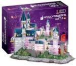 CubicFun Neuschwanstein-i kastély 3D puzzle LED világítással 128 db-os