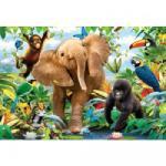 Ravensburger Padlópuzzle Élet a dzsungelben 24 db-os