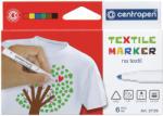 CENTROPEN Markere pentru textile 6 culori/set CENTROPEN 2739