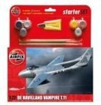 Airfix Starter Set De Havilland Vampire T11 1:72 (AF55204)