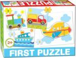 Dohány First Puzzle 4 az 1-ben - Járművek