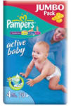 Pampers Active Baby 4 Maxi (7-14 kg) Jumbo Pack - 70 buc