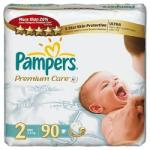 Pampers Premium Care 2 Mini (3-6 kg) Jumbo Pack - 90 buc