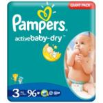 Pampers Active Baby 3 Midi (4-9 kg) Giant Pack - 96 buc
