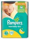 Pampers NewBaby-Dry 1 Newborn (2-5 kg) 43buc