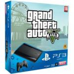 Sony PlayStation 3 Super Slim 500GB (PS3 Super Slim 500GB) + Grand Theft Auto V Конзоли за игри