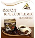 Ayura Herbal Black Coffe Mix ganodermával, instant, 1 tasak