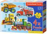 Castorland Járművek 4. 5, 6 és 7 db-os sziluett puzzle