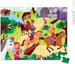 Janod Puzzle bőröndben - Lovaglás 100 db-os (02876)