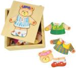 Bigjigs Toys Mrs. Bear macis öltöztető (MHOR-BJ764) - gyerekjatekok