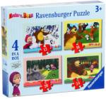 Ravensburger Mása és a medve 4 az 1-ben puzzle (07028)