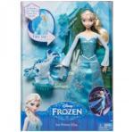 Mattel Disney Frozen Ice Power Elsa - Papusa Elsa cu statuie sclipitoare (CGH15) Papusa