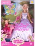 DEFA Lucy hercegnő baba kislánnyal és pónival - többféle