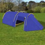 vidaXL Водоустойчива палатка за къмпинг 4 човека, цвят морско син/жълт (90517) Палатка