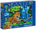 Clementoni Magic 3D puzzle szemüveggel - Jaguár a dzsungelben 1000 db-os (39284)