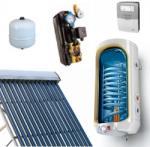 Napcsap 3-4 fő részére napkollektor rendszer: 15 vákuumcsöves napkollektor + 150 literes 1 hőcserélős bojler + szivattyú állomás + vezérlés + tágulási tartály (NAPKOLLEKTORSZETT15VCS150L-1HCS-3401)