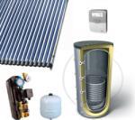 Napcsap 1000 literes napkollektor rendszer fűtés rásegítésre: 5 db 20 vákuumcsöves kollektor + 1 hőcserélős puffertároló + szivattyú állomás + vezérlés + tágulási tartály (NAPKOLLEKTOR_RENDSZER--5-20V-10P1H)